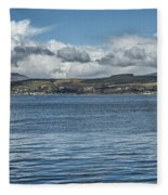 Scottish Panorama Over The River Clyde Fleece Blanket