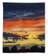 Scottish Sunset Fleece Blanket