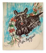 Scottish Terrier Fleece Blanket