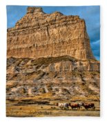 Scotts Bluff National Monument Fleece Blanket