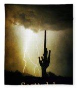 Scottsdale Arizona Fine Art Lightning Photography Poster Fleece Blanket