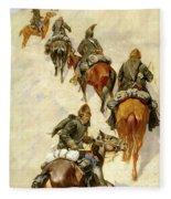 Scouts Climbing A Mountain Fleece Blanket