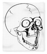 Screaming Skull Fleece Blanket