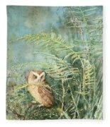 Screech Of Inglis Island Fleece Blanket