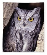 Screech Owl Fleece Blanket