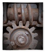 Screw And Gear  Fleece Blanket
