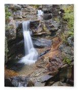 Screw Auger Falls - Maine  Fleece Blanket