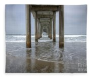 Scripps Pier La Jolla California 4 Fleece Blanket
