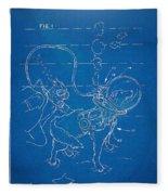 Scuba Doggie Patent Artwork 1893 Fleece Blanket