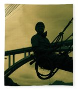 Sculpture - Hoover Dam Construction Worker Fleece Blanket