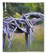 Sculpture Of Horse Fleece Blanket
