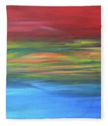 Sea And Sky Fleece Blanket