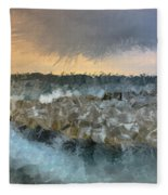 Sea And Stones Fleece Blanket