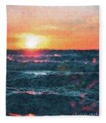 Sea And Sun Fleece Blanket
