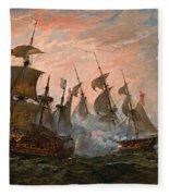 Sea Battle Fleece Blanket