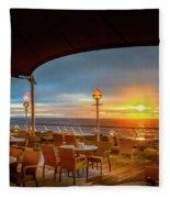 Sea Cruise Sunrise Fleece Blanket