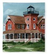 Sea Girt Lighthouse Fleece Blanket