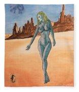 Sea Goddess In Utah Fleece Blanket