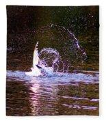 Sea Gull Abstract Fleece Blanket