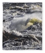 Sea In Turmoil Fleece Blanket