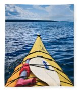 Sea Kayaking Fleece Blanket