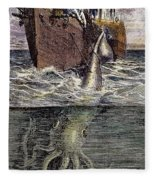 Sea Monster Fleece Blanket