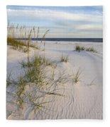 Sea Oats And Blue Sky Fleece Blanket
