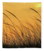 Sea Oats At Dusk Fleece Blanket