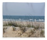 Sea Oats By The Ocean Fleece Blanket