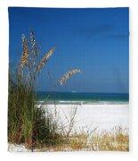 Sea Oats Fleece Blanket