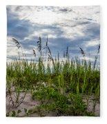 Sea Oats Sand Dune Sky Fleece Blanket