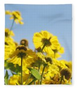 Sea Of Gold Fleece Blanket