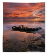 Sea Of Red Fleece Blanket