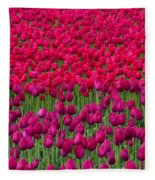 Sea Of Tulips Fleece Blanket