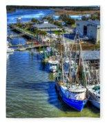 Sea Ray Of Savannah  Fleece Blanket