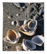 Sea Shells At Folly Beach In Charleston Sc Fleece Blanket