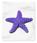 Sea Star Purple .png Fleece Blanket