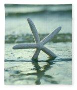 Sea Star Vert Fleece Blanket