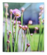 Sea Thrift Fleece Blanket