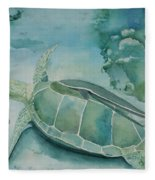 Sea Turtle And Friend Fleece Blanket