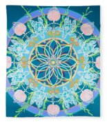 Sea Turtle Mandala  Fleece Blanket
