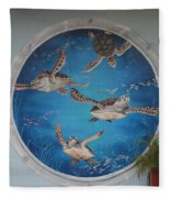 Sea Turtles Fleece Blanket