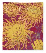 Sea Urchin 6 Fleece Blanket