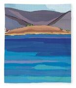Sea View And Chapel Fleece Blanket