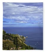 Sea View From Taormina Fleece Blanket