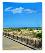 Sea Walk Fleece Blanket