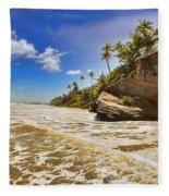 Sea Waves Fleece Blanket