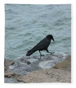 Seafaring Crow Fleece Blanket