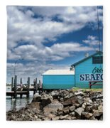 Seafood On The River  Fleece Blanket