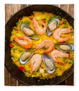 Seafood Paella  Fleece Blanket